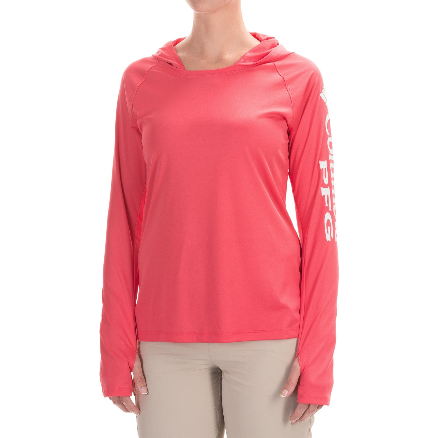 Columbia sportswear tidal hooded pfg shirt for women for Columbia shirts womens pfg