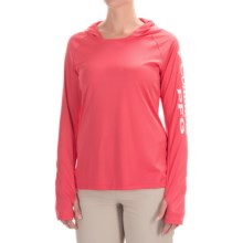 Columbia Sportswear Tidal Hooded PFG Shirt - Omni-Wick®, UPF 50, Long Sleeve (For Women) in Bright Geranium/White - Closeouts
