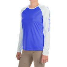 Columbia Sportswear Tidal Tee II Shirt - UPF 50, Long Sleeve (For Women) in Stormy Blue/White - Closeouts