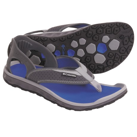 Columbia Sportswear Tillie Creek Flip Sport Sandals (For Men) in Grill/Azul