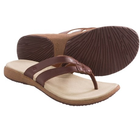 Columbia Sportswear Tilly Jane Flip II Sandals - Leather (For Women) in Grizzly Bear