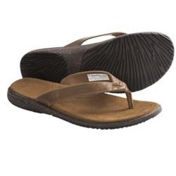 Columbia Sportswear Tilly Jane Flip Sandals - Leather (For Women) in Elk
