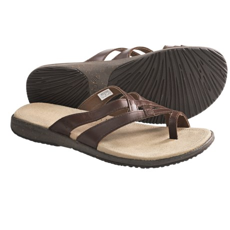 Columbia Sportswear Tilly Jane Weave Sandals - Leather (For Women) in Grizzly Bear