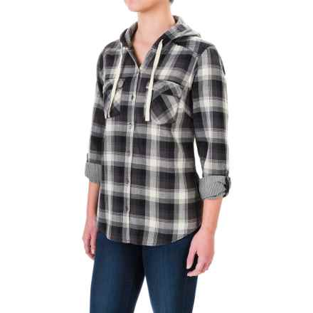 Columbia Sportswear Times Two Shirt - Hooded, Long Sleeve (For Women) in Black Plaid - Closeouts