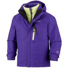 Columbia Sportswear Tonpaite Omni-Heat® Jacket - Waterproof, Insulated, 3-in-1 (For Youth) in Light Grape - Closeouts
