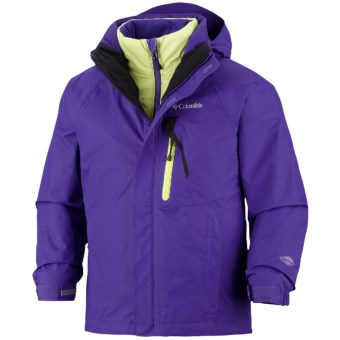 Columbia Sportswear Tonpaite Omni-Heat® Jacket - Waterproof, Insulated, 3-in-1 (For Youth) in Light Grape