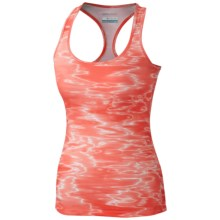 Columbia Sportswear Trail Fiesta Tank Top - Racerback (For Women) in Coral Flame Print - Closeouts