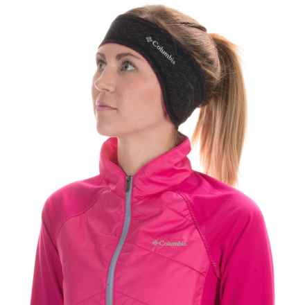Columbia Sportswear Trail Flash II Omni-Wick® Headband (For Men and Women) in Black/Haute Pink - Closeouts