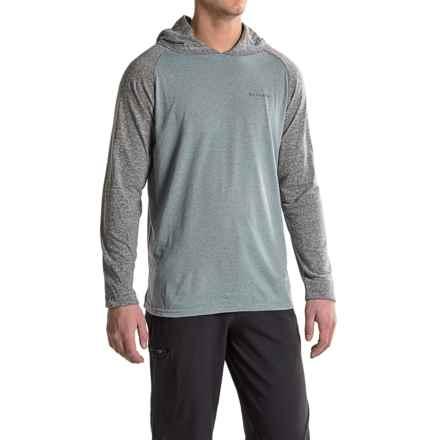 Columbia Sportswear Trail Shaker Hooded Shirt - Omni-Wick®, Long Sleeve (For Men) in Grey Ash Heather - Closeouts