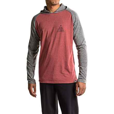 Columbia Sportswear Trail Shaker Hooded Shirt - Omni-Wick®, Long Sleeve (For Men) in Red Element Heather/Camp - Closeouts