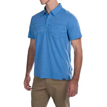 Columbia Sportswear Trail Shaker Omni-Wick® Polo Shirt - Short Sleeve (For Men) in Pacific Blue Heather - Closeouts