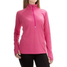 Columbia Sportswear Trail Summit Omni-Heat® Pullover Shirt - Zip Neck (For Women) in Haute Pink Heather - Closeouts