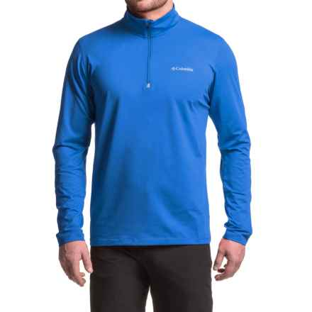 Columbia Sportswear Trail Summit Omni-Heat® Pullover Shirt - Zip Neck, Long Sleeve (For Men) in Super Blue - Closeouts