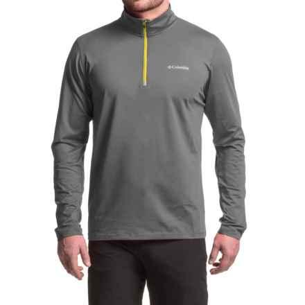Columbia Sportswear Trail Summit Omni-Heat® Shirt - Zip Neck, Long Sleeve (For Men) in Graphite/Acid Yellow - Closeouts