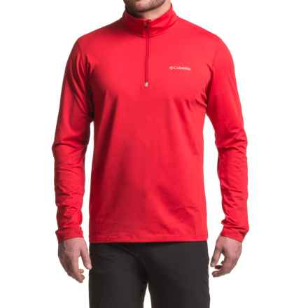 Columbia Sportswear Trail Summit Omni-Heat® Shirt - Zip Neck, Long Sleeve (For Men) in Mountain Red - Closeouts