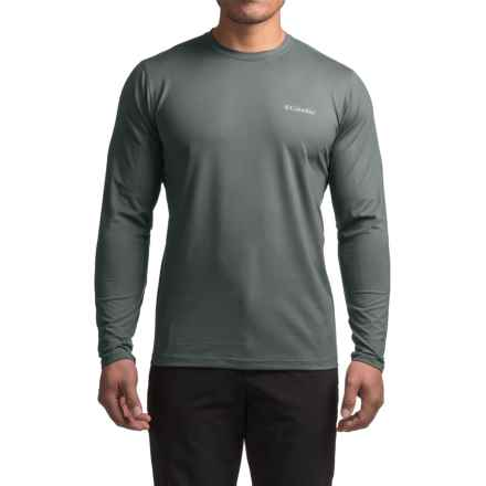 Columbia Sportswear Trail Summit Shirt - Long Sleeve (For Men) in Graphite Heather/Acid Yellow - Closeouts