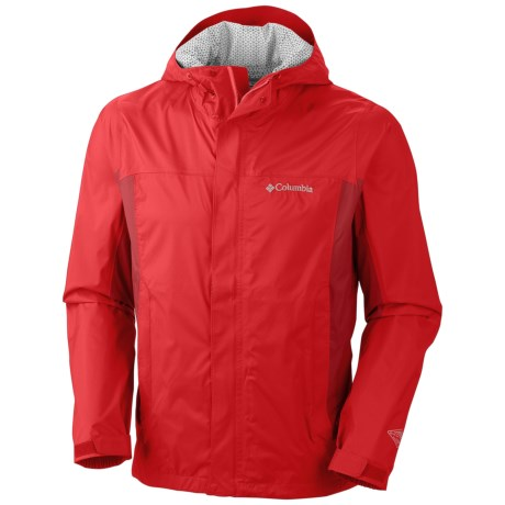 Columbia Sportswear Trail Turner Omni-Tech® Shell Jacket - Waterproof (For Men) in Bright Red