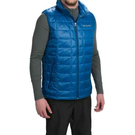 Columbia Sportswear Trask Mountain 650 TurboDown Omni-Heat® Vest - 550 Fill Power (For Men) in Marine Blue - Closeouts