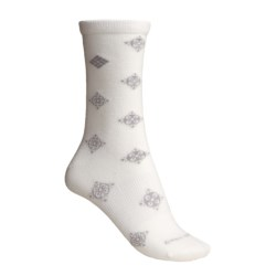 Columbia Sportswear Travel Crew Socks (For Women) in Sea Salt/Oyster