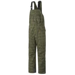 Columbia Sportswear Tree Grinder Omni-Heat® Omni-Tech® Bib Snow Pants - Waterproof (For Men) in Surplus Green Lumberjack Plaid
