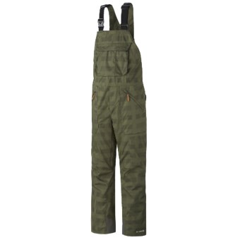 Columbia Sportswear Tree Grinder Omni-Heat® Omni-Tech® Bib Snow Pants - Waterproof (For Men) in Surplus Green Lumberjack Plaid