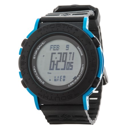 Columbia Sportswear Treeline Sport Watch in Black/Black/Cobalt Blue
