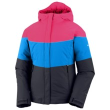 Columbia Sportswear Triple Run Jacket - Insulated (For Toddler Girls) in Black/Compass Blue/Sea Salt - Closeouts