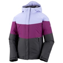 Columbia Sportswear Triple Run Jacket - Insulated (For Toddler Girls) in Grill/Raspberry/Helio - Closeouts