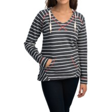Columbia Sportswear Tropic Haven Stripe Hoodie (For Women) in Collegiate Navy Stripe - Closeouts