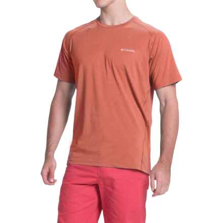 Columbia Sportswear Tuk Mountain Omni-Wick® Shirt - UPF 50+, Short Sleeve (For Men) in Rust Red Heather - Closeouts