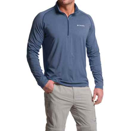 Columbia Sportswear Tuk Mountain Omni-Wick® Shirt - UPF 50, Zip Neck, Long Sleeve (For Men) in Night Tide Heather - Closeouts