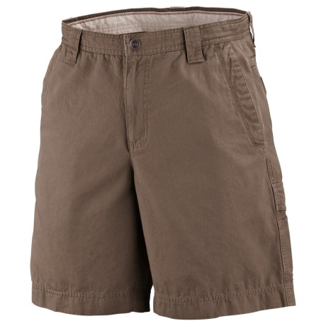 Columbia Sportswear Ultimate Roc Shorts - Sandwashed Canvas, UPF 50 (For Big Men) in Major