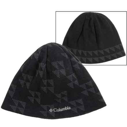 Columbia Sportswear Urbanization Mix Beanie - Reversible (For Men and Women) in Black Triangle Fade - Closeouts