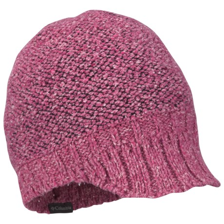 Columbia Sportswear Urbex Visor Beanie Hat (For Women) in Bright Rose/Coal