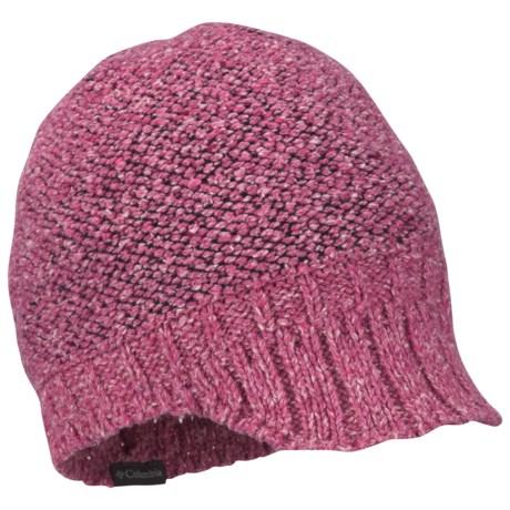 Columbia Sportswear Urbex Visor Beanie Hat (For Women) in Bright Rose/Coal