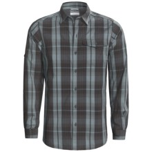 Columbia Sportswear Utilizer Plaid Shirt - Long Roll-Up Sleeve (For Men) in Black - Closeouts