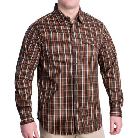 Columbia Sportswear Utilizer Plaid Shirt - Long Roll-Up Sleeve (For Men) in Cedar