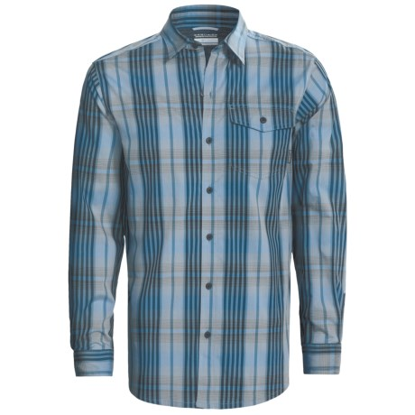 Columbia Sportswear Utilizer Plaid Shirt - Long Roll-Up Sleeve (For Men) in Collegiate Navy