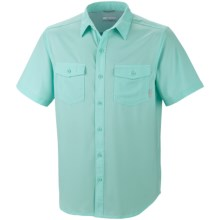 Columbia Sportswear Utilizer Solid Shirt - UPF 40, Short Sleeve (For Big and Tall Men) in Gulfstream - Closeouts