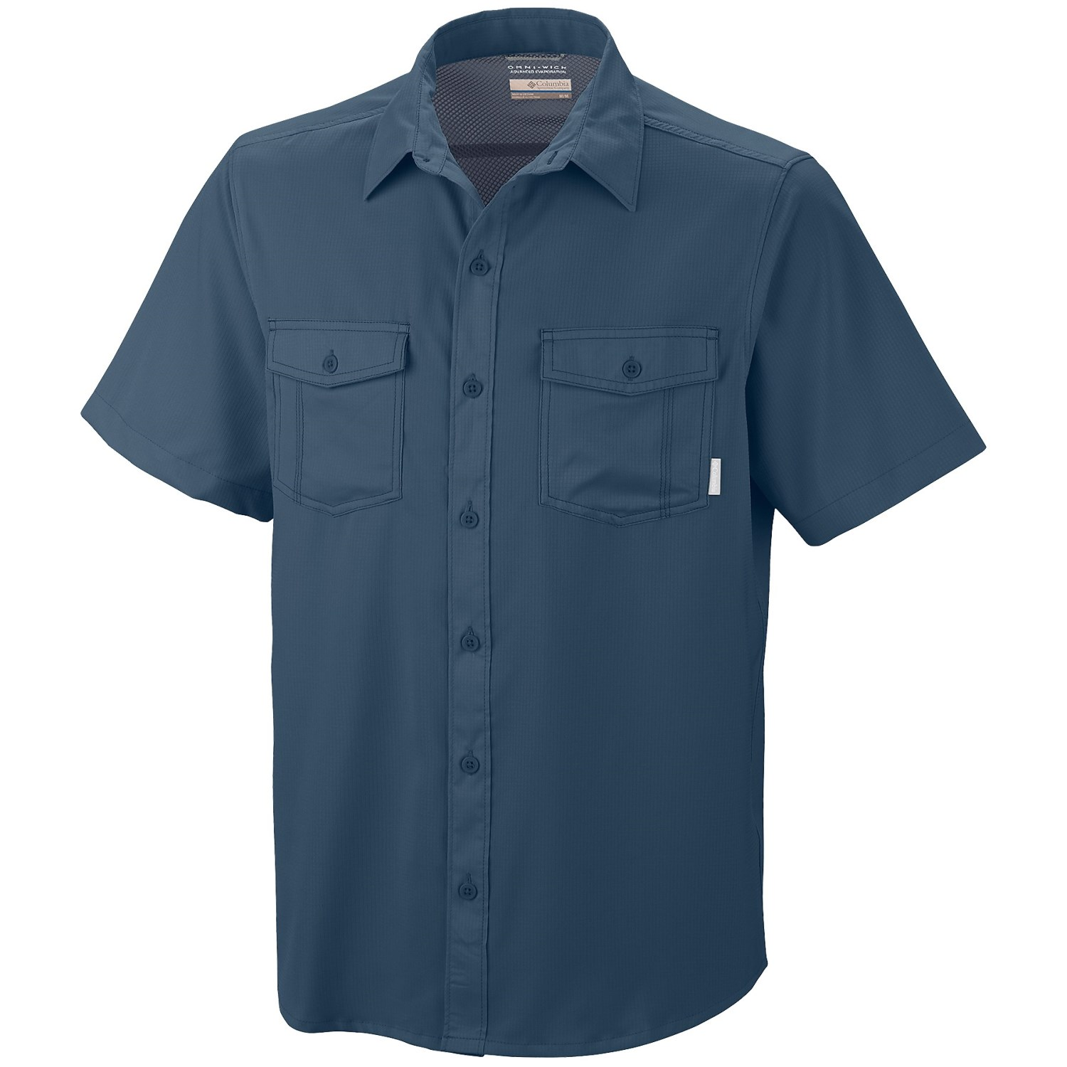 Columbia sportswear utilizer solid shirt upf 40 short for Design your own t shirt big and tall