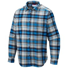 Columbia Sportswear Vapor Ridge III Shirt - Long Sleeve (For Big and Tall Men) in Hyper Blue Plaid - Closeouts