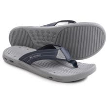 Columbia Sportswear Vent Cush Flip PFG Sandals (For Men) in Columbia Navy/Columbia Grey - Closeouts