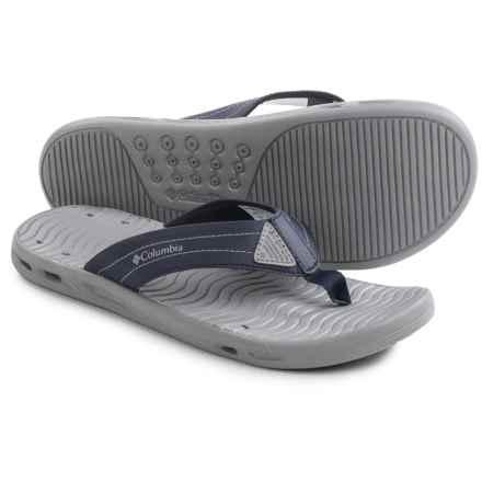 Columbia Sportswear Vent Cush Flip PFG Sandals (For Men) in Columbia Navy/Columbia Grey - Closeouts
