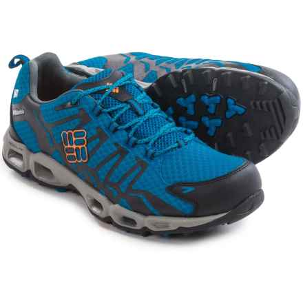 Columbia Sportswear Ventrailia OutDry® Trail Running Shoes - Waterproof (For Men) in Hyper Blue/Heat Wave - Closeouts