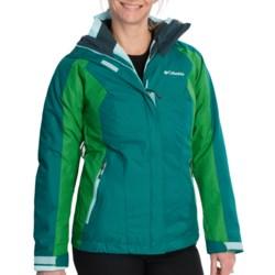Columbia Sportswear Vertical Convert Interchange Jacket - 3-in-1 (For Women) in Black