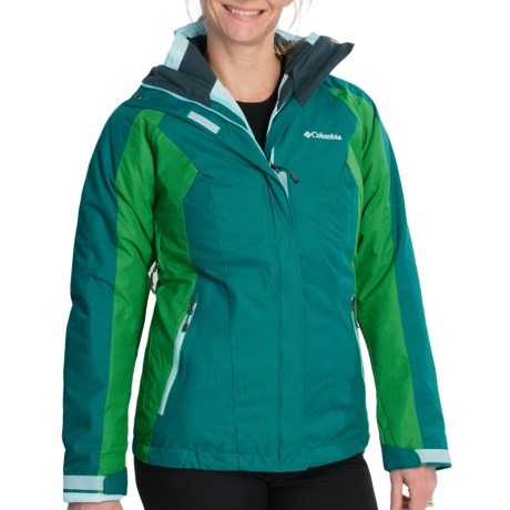 Columbia Sportswear Vertical Convert Interchange Jacket - 3-in-1 (For Women) in Black