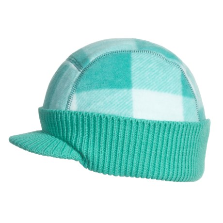 Columbia Sportswear Visor Beanie Hat (For Kids) in Reef Lumberjack Plaid