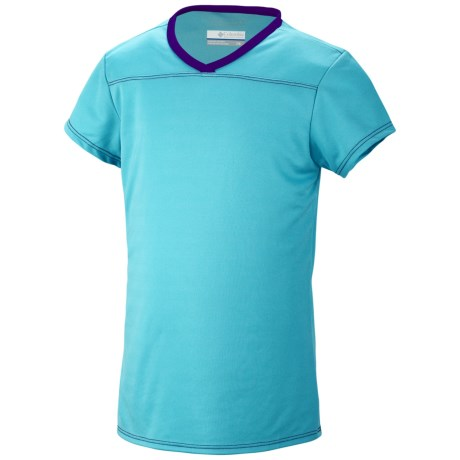 Columbia Sportswear Vista Ridge Shirt - UPF 50, Short Sleeve (For Youth Girls) in Opal Blue