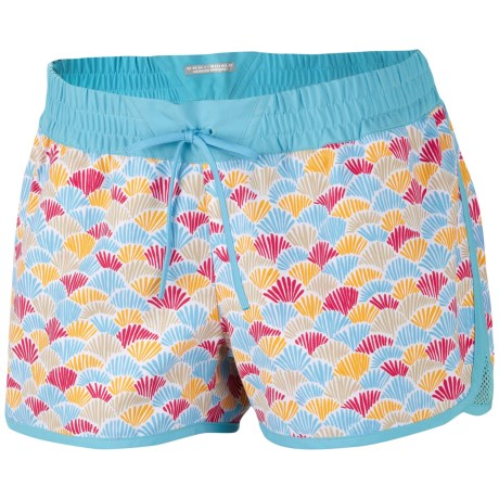 Columbia Sportswear Viva Bonita Boardshorts - UPF 50 (For Women) in Clear Blue/Scaled Fans Print