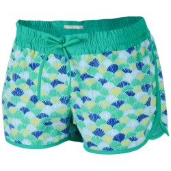 Columbia Sportswear Viva Bonita Boardshorts - UPF 50 (For Women) in Glaze Green/Scaled Fans Print